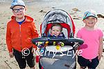 Enjoying the beach in Ballyheigue on Saturday, l to r: Jamie, Ella and Leah Fitzgerald.