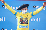 Primoz Roglic (SLO) Team Jumbo-Visma wins the overall, points and mountains classifications at the end of Stage 6 of the Itzulia Basque Country 2021, running 111.9km from Ondarroa to Arrate, Spain. 10th April 2021.  <br /> Picture: Luis Angel Gomez/Photogomezsport | Cyclefile<br /> <br /> All photos usage must carry mandatory copyright credit (© Cyclefile | Luis Angel Gomez/Photogomezsport)
