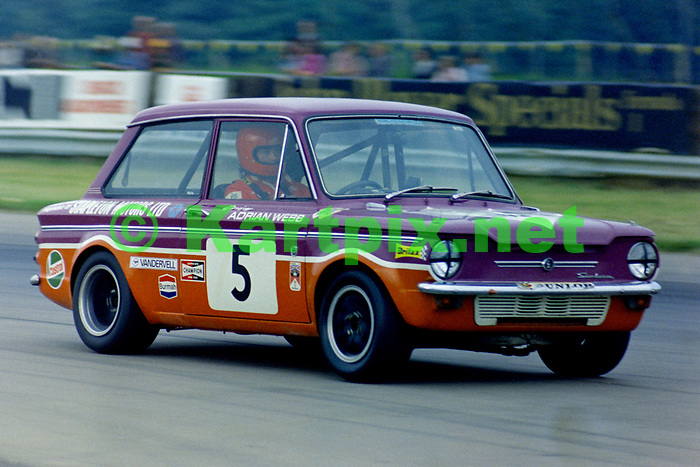 Adrian Webb in the saloon car race supporting the 1973 John Player British Grand Prix