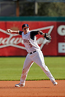 Illinois Fighting Illini third baseman Brandon Hohl #3 during a game against the Louisville Cardinals at the Big Ten/Big East Challenge at Al Lang Stadium on February 18, 2012 in St. Petersburg, Florida.  (Mike Janes/Four Seam Images)