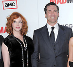Christina Hendricks and  Jon Hamm at The AMC Premiere of The 6th Season Of Mad Men held at The DGA in West Hollywood, California on March 20,2013                                                                   Copyright 2013 Hollywood Press Agency