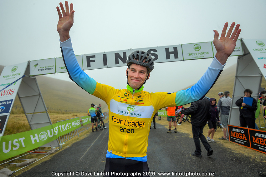 Tour leader Rylee Field (Australia /Team BridgeLane) after stage four of the NZ Cycle Classic UCI Oceania Tour (Te Wharau-Admiral Hill Queen Stage) in Wairarapa, New Zealand on Saturday, 18 January 2020. Photo: Dave Lintott / lintottphoto.co.nz