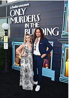 """NEW YORK CITY - AUG 24: Constantine Maroulis attends the screening of Hulu's """"Only Murders in the Building"""" at The Greens at Pier 17 on August 24, 2021 in New York City. (Photo by Frank Micelotta/Hulu/PictureGroup)"""