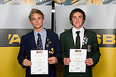 Boys Hockey finalists Shay Neal & Arron Connor. ASB College Sport Young Sportperson of the Year Awards 2008 held at Eden Park, Auckland, on Thursday November 13th, 2008.