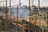 - Germania, zona industriale nella città di Riesa subito dopo la riunificazione fra DDR e Repubblica Federale Tedesca (Marzo 1991)<br /> <br /> - Germany, industrial area in the city of Riesa immediately after the reunification between DDR and the Federal Republic of Germany (March 1991)