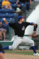 Scott Hodsdon of the Stockton Ports during game against the Rancho Cucamonga Quakes at The Epicenter in Rancho Cucamonga,California on August 15, 2010. Photo by Larry Goren/Four Seam Images