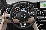 Car pictures of steering wheel view of a 2014 Mercedes Benz C-CLASS Avantgarde 5 Door Wagon 2WD Steering Wheel