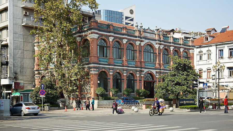 Banque De L'Indo-Chine After Restoration In 2010.  Built 1901-02.  The Bank Had Been Established In Paris In 1875.  No 171 The Bund, Hankou (Hankow), Wuhan.  A Building Once Belonging To Missions Etrangerers De Paris Is To The Right.