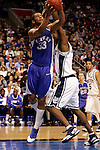 Kentucky forward Randolph Morris (33) shoots over a Connecticut player.  Connecticut defeated Kentucky 87-83 in the second round of the NCAA Tournament  at the Wachovia Center in Philadelphia, Pennsylvania on March 19, 2006.