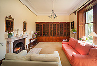 """BNPS.co.uk (01202) 558833. <br /> Pic: KnightFrank/BNPS<br /> <br /> Pictured: Living room. <br /> <br /> A castle that was burnt down by a pirate, involved in the English Civil War and has been in the same family for five centuries is on the market for offers over £650,000.<br /> <br /> Kilberry Castle, which dates back to the 15th century, has an incredible history and still has a wealth of original features including a 288-year-old mausoleum.<br /> <br /> It sits in 21 acres of land on the Scottish west coast, with stunning views over Kilberry Bay and out to the islands of Islay, Jura and Gigha.<br /> <br /> The four-storey tower house now needs a buyer """"with deep pockets and great imagination"""" to carry out a complete refurbishment but it has a lot of potential."""