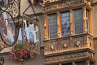 wrought iron sign maison des tetes colmar alsace france