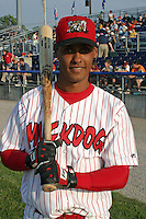 June 27, 2003:  Henry Brito of the Batavia Muckdogs during a game at Dwyer Stadium in Batavia, New York.  Photo by:  Mike Janes/Four Seam Images