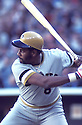 Pittsburgh Pirates Willie Stargel(8) in action during a game from his career. Willie Stargel played for 21 years,  all with the Pirates,was a 7-time All-Star, National League MVP in 1979 and was inducted to the Baseball Hall of Fame in 1988.David Durochik/SportPics