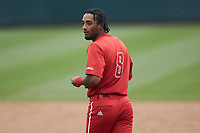 Jose Torres (8) of the North Carolina State Wolfpack during the game against the North Carolina Tar Heels at Boshamer Stadium on March 27, 2021 in Chapel Hill, North Carolina. (Brian Westerholt/Four Seam Images)