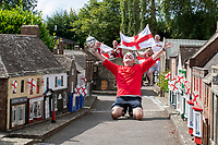 BNPS.co.uk (01202) 558833. <br /> Pic: CorinMesser/BNPS<br /> <br /> Pictured: Phil Runciman celebrates. <br /> <br /> Tiny town... massive match...<br /> <br /> Voluteers at Wimborne Model Town get Euro finals fever and hold a mini match in the 1/10th scale version of the town in Dorset.