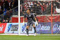 Harrison, NJ - Tuesday April 10, 2018: Rodolfo Cota during leg two of a  CONCACAF Champions League semi-final match between the New York Red Bulls and C. D. Guadalajara at Red Bull Arena. C. D. Guadalajara defeated the New York Red Bulls 0-0 (1-0 on aggregate).