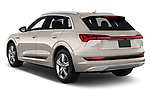 Car pictures of rear three quarter view of a 2019 Audi e-tron Prestige 5 Door SUV angular rear