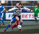 Shire's Graeme McGregor holds off Montrose's Terry Masson.