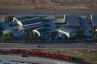 aerial photograph of the San Diego trolley Gillespie Field, El Cajon, California