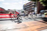 No longer a GC competitor, Vincenzo Nibali (ITA/Bahrain-Merida) rolls solo towards the finish<br /> <br /> Stage 10: Saint-Flour to Albi(217km)<br /> 106th Tour de France 2019 (2.UWT)<br /> <br /> ©kramon