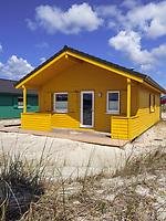 Bungalow-Dorf auf der Düne, Insel Helgoland, Schleswig-Holstein, Deutschland, Europa<br /> bungalow villagge, dune, Helgoland island, district Pinneberg, Schleswig-Holstein, Germany, Europe