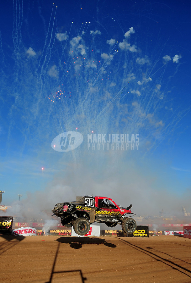 Apr 16, 2011; Surprise, AZ USA; LOORRS driver Robbie Pierce (30) during round 3 at Speedworld Off Road Park. Mandatory Credit: Mark J. Rebilas-