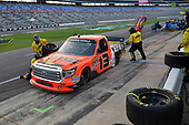 NASCAR Camping World Truck Series<br /> winstaronlinegaming.com 400<br /> Texas Motor Speedway, Ft. Worth, TX USA<br /> Friday 9 June 2017<br /> Cody Coughlin, Ride TV/ Jegs Toyota Tundra, makes a pit stop<br /> World Copyright: John K Harrelson<br /> LAT Images<br /> ref: Digital Image 17TEX2jh_02083