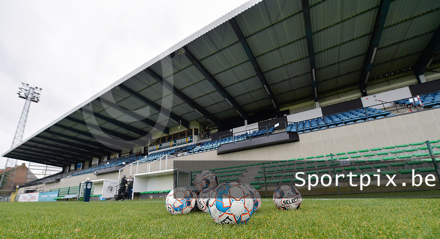 illustration picture of the Pierre Cornelisstadion  pictured during a female soccer game between Eendracht Aalst and AA Gent Ladies on the 10 th matchday of the 2020 - 2021 season of Belgian Scooore Womens Super League , Saturday 19 th of December 2020  in Aalst , Belgium . PHOTO SPORTPIX.BE | SPP | DIRK VUYLSTEKE