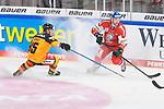 Eishockey: Deutschland – Tschechien am 01.05.2021 in der ARENA Nürnberger Versicherung in Nürnberg<br /> <br /> Deutschlands Marcel Brandt (Nr.85) gegen Tschechiens Ondrej Najman (Nr.46)<br /> <br /> Foto © Duckwitz/osnapix/PIX-Sportfotos *** Foto ist honorarpflichtig! *** Auf Anfrage in hoeherer Qualitaet/Aufloesung. Belegexemplar erbeten. Veroeffentlichung ausschliesslich fuer journalistisch-publizistische Zwecke. For editorial use only.