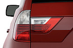 Tail light close up detail view of a 2008 BMW X3