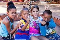 Cuba, Trinidad.  Cuban Children.