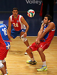 Puerto Rico's Josue Rivera passes against Dominican Republic during the Pan American Cup at the Reno Events Center in Reno, Nev., on Monday, Aug. 17, 2015. <br /> Photo by Cathleen Allison