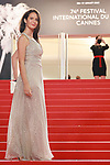 """Cannes Film Festival 2021. 74th edition of the 'Festival International du Film de Cannes' under Covid-19 outbreak on 13/07/2021 in Cannes, France. Guests arrive for the screening of the film """"Titane"""""""