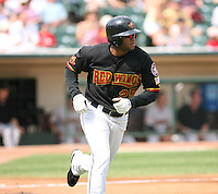 2007:  Darnell McDonald of the Rochester Red Wings, Class-AAA affiliate of the Minnesota Twins, during the International League baseball season.  Photo By Mike Janes/Four Seam Images