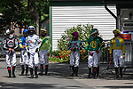 July 25, 2020: jockey before race 5 on Alfred G Vanderbilt  Day at Saratoga Race Course in Saratoga Springs, New York. Rob Simmons/Eclipse Sportswire/CSM
