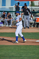 David Maberry (44) of the Ogden Raptors during the game against the Grand Junction Rockies at Lindquist Field on June 5, 2021 in Ogden, Utah. The Raptors defeated the Rockies 18-1. (Stephen Smith/Four Seam Images)