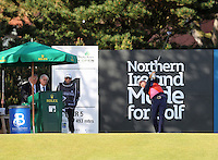 Saturday 30th May 2015; Graeme McDowell, Northern Ireland, tees off for his third round<br /> <br /> Dubai Duty Free Irish Open Golf Championship 2015, Round 3 County Down Golf Club, Co. Down. Picture credit: John Dickson / SPORTSFILE