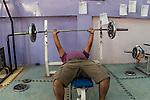 19/07/14  Iraq -- Daquq, Iraq -- A peshmerga training at the training room in the peshmerga base in Daquq.