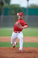 St. Louis Cardinals pitcher Rowan Wick (28) during a Minor League Spring Training game against the New York Mets on March 31, 2016 at Roger Dean Sports Complex in Jupiter, Florida.  (Mike Janes/Four Seam Images)