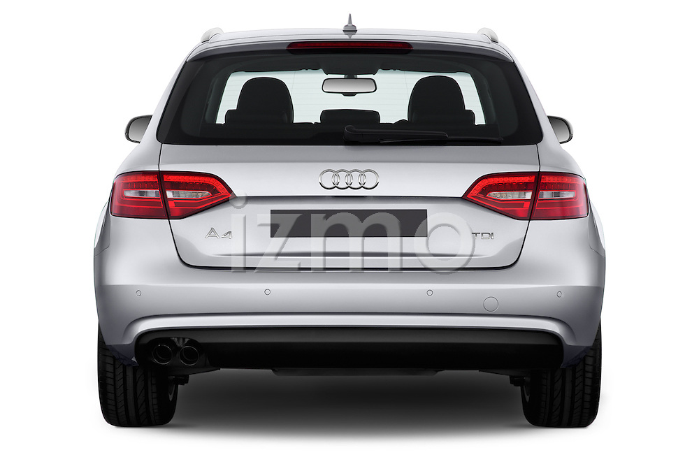 Straight rear view of a 2014 Audi A4 AMBITION LUXE 5 Door Wagon 2WD