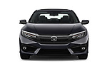 Car photography straight front view of a 2019 Honda Civic Elegance 4 Door Sedan