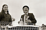 Pat Quinn (right) at the Fleadh Nua parade in Ennis, May 30, 1983. Photograph by Liam McGrath