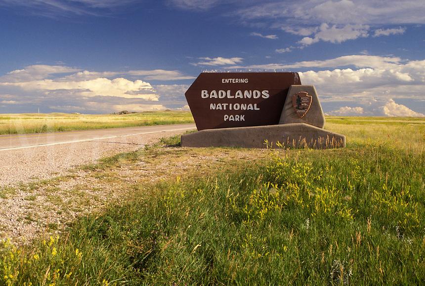 Badlands National Park, SD, South Dakota, Entrance at Pinnacle to the Badlands Nat'l Park in South Dakota.