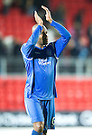 St Johnstone v Hamilton Accies...10.05.11.Michael Duberry applauds the fans at full time.Picture by Graeme Hart..Copyright Perthshire Picture Agency.Tel: 01738 623350  Mobile: 07990 594431