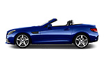 Car driver side profile view of a 2018 Mercedes Benz SLC AMG Line 2 Door Convertible