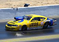 Jul. 28, 2013; Sonoma, CA, USA: NHRA pro stock driver Jeg Coughlin during the Sonoma Nationals at Sonoma Raceway. Mandatory Credit: Mark J. Rebilas-