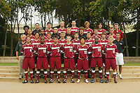 2005 team photo: Front row (l to r): Galen Thompson, Tim Jones, Michael Alexander, Alex Kozachenko, Bret Shimizu, Tunji Munabi, K.C. Coyne. Second row: Perry Archibald, Marcus Ryan, Evan Morgan, Dan Shapiro, Stephen Ringer, Cooper McKee, Michael Brown, Matt Stimson. Third row: Enrique Allen, Bronson McDonald, Josh Nesbit, Andrew Kartunen, Brent Stewart, Kyle Hency, T.J. Novak. Top row: Dena Floyd, Ryan Webb, Mark Bartlett, Luke Sager, Ryan Oblak, Scott Bolkan, Ryan Imamura, Bret Simon.