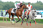 Caleb's Posse ridden by Rajiv Maragh Winner of the Foxwoods King's Bishop Stakes (Grade I) at  Saratoga Race Course in Saratoga Springs, NY  on 8/27/11. Trained by Donnie Von Hemel (Ryan Lasek / Eclipse Sportwire)