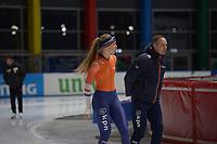 SPEEDSKATING: 05-12-2018, Tomaszów Mazowiecki (POL), ISU World Cup Arena Lodowa, Jutta Leerdam (NED), coach Erwin ten Hove, ©photo Martin de Jong