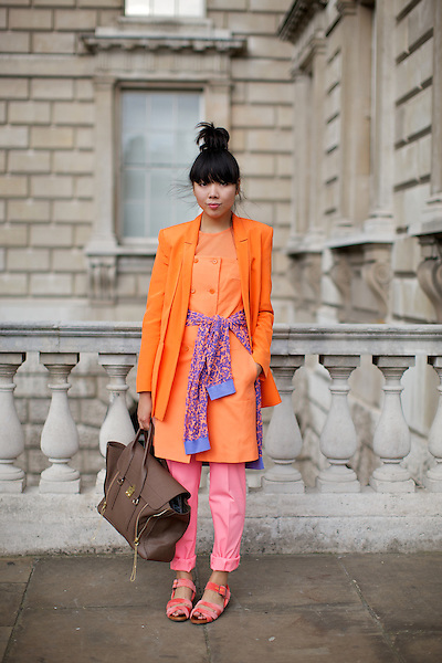 Susie Lau of Stylebubble blog at London Fashion Week